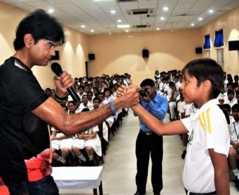 A workshop against addiction at DPS Durgapur