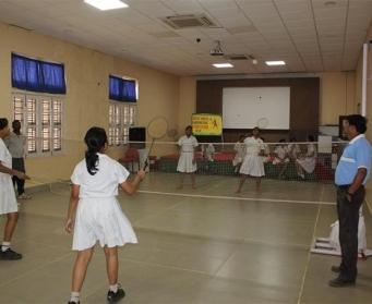 Badminton Competition (V-X) on 2nd November, 2015