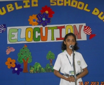 Elocution (III-VIII) on 18th July, 2013