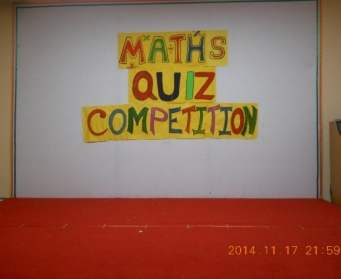 Maths Quiz Competition (II-IX) from 17th-25th November, 2014