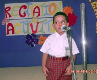 Recitation Activity (Nursery & LKG) on 26th June