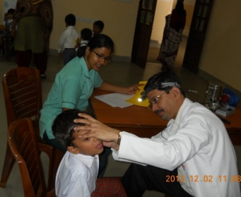 Students' Health Camp (Nursery-VIII)