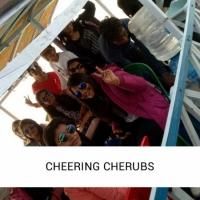 Cheering cherubs