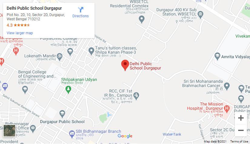 Map of Delhi Public School Durgapur