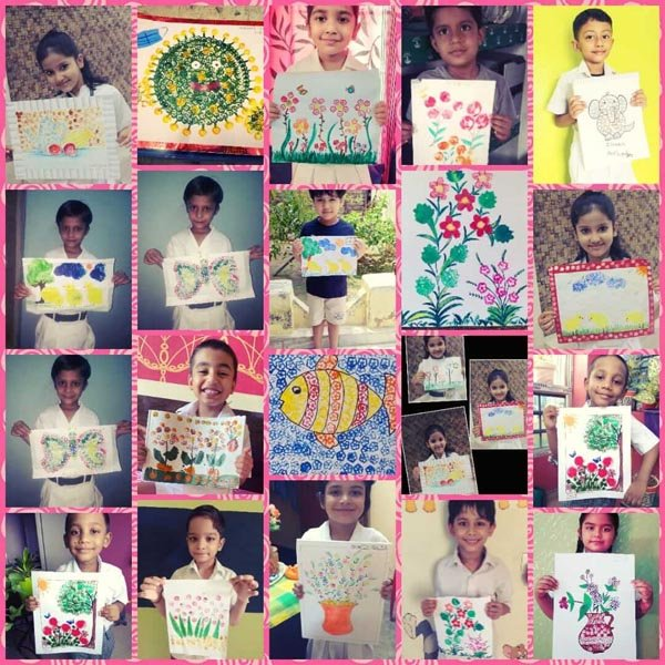 Vegetable Paintings by Class I Students