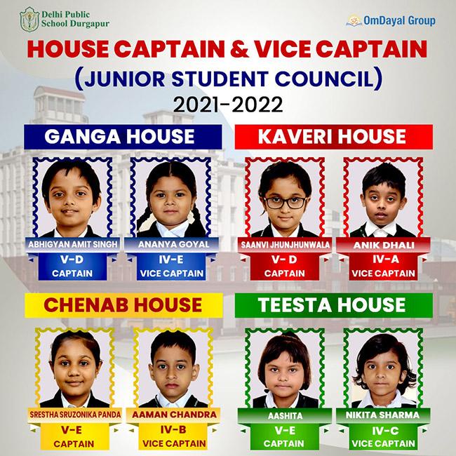 Captains and Vice Captains 2021-22 (Junior School)
