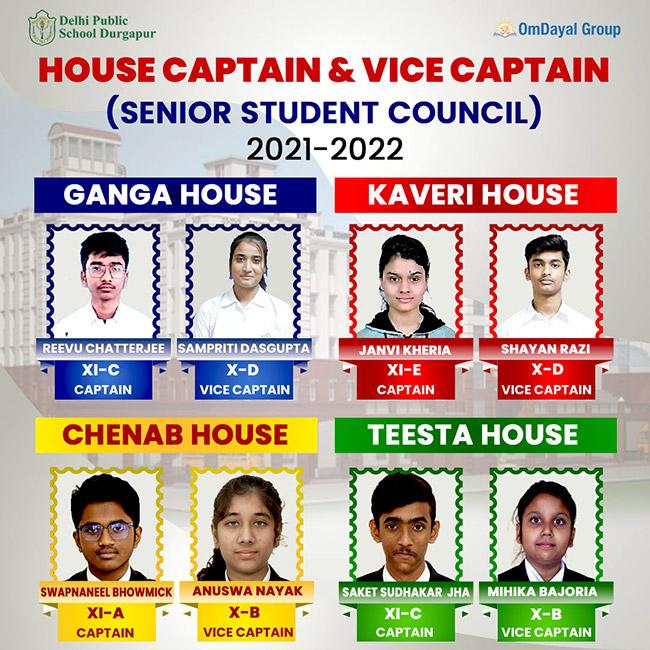 Captains and Vice Captains 2021-22 (Senior School)